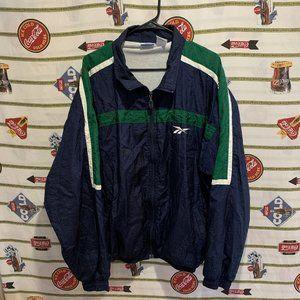 Vintage Reebok Athletic Track Jacket Windbreaker